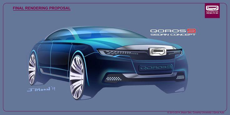 Qoros 9 Sedan Concept - Design Sketch by Jihoon Seo