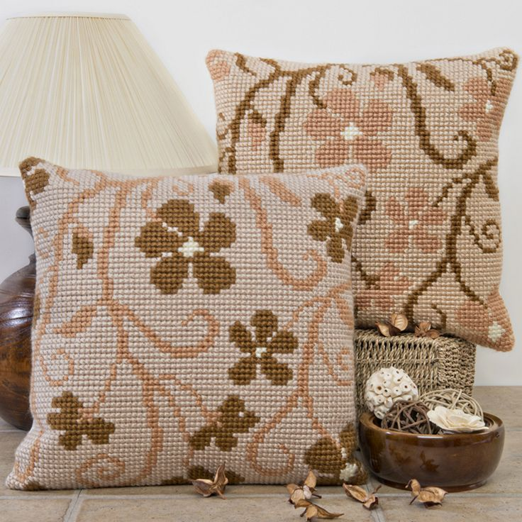 'Cascade' Cross Stitch Cushion Kit by Twilleys of Stamford.