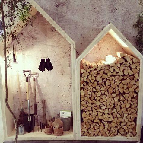 Mini Laube zur Aufbewahrung von Gärtner-Werkzeug oder von Holzscheiten I Unterstand Holzlager