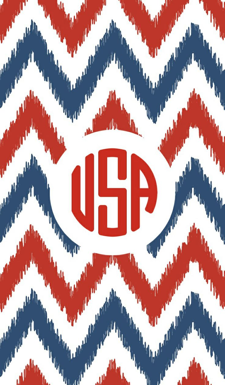 America/USA themed iPhone monogram background
