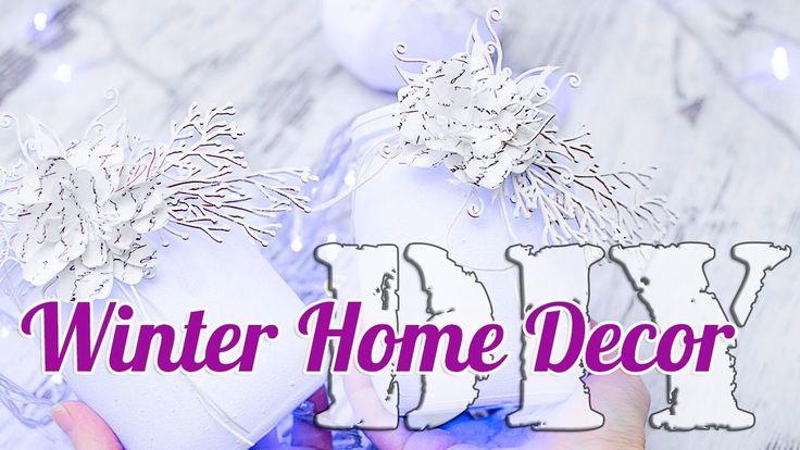 Подсвечники и зимний декор для дома. Преображаем тыквы и баночки! Мастер-класс