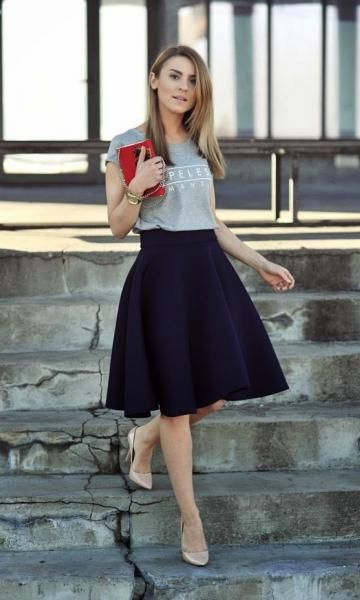 Look T-Shirt + Saia Midi