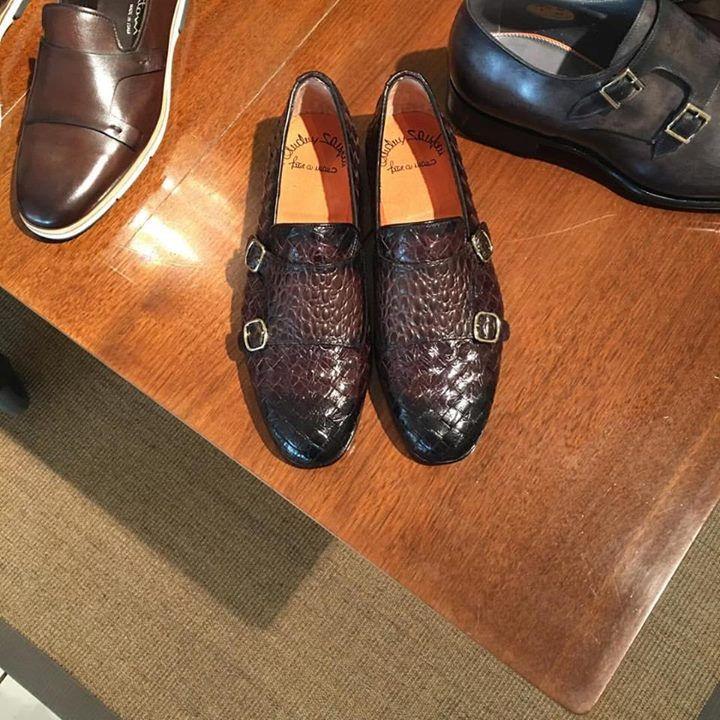 Crocodile. For summer. Stylish!  #santoni #shoes #handmade #leather #crocodile #strap #monks #loafers #summer #bespoke #mtm #davideatelier #davide #atelier #elegant #luxury #luxurylife