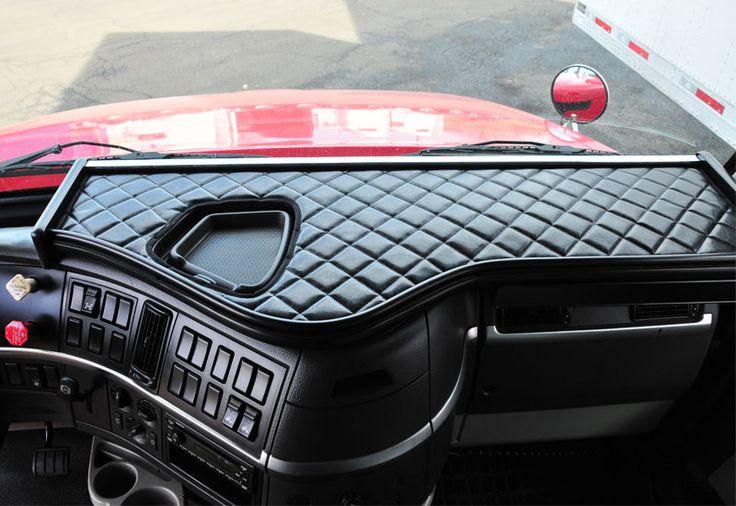 Volvo VNL V-Truck Custom Dashboard System With Black Vinyl