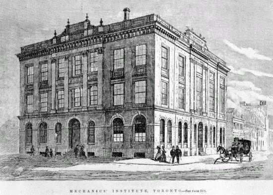 Mechanics Institute Toronto 1870 Jpg Building Sketch Toronto Lombard Street