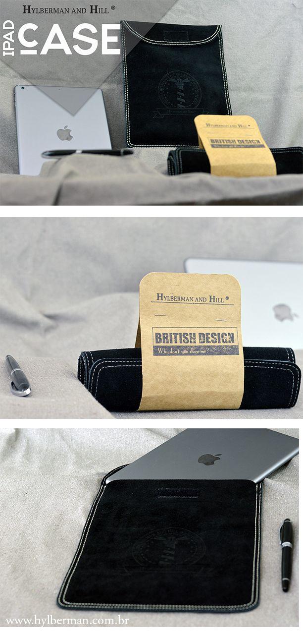 Seu case para iPad está velho e cansado? Que tal trocar por este da Hylberman em Puro couro bovino de Raspa? Lindo não? está esperando o que? www.hylberman.com.br #couro #caseipad #hylberman #homem #lindo #apple #ipad