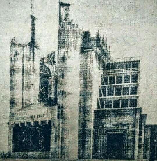 Construcción del templo votivo de maipu