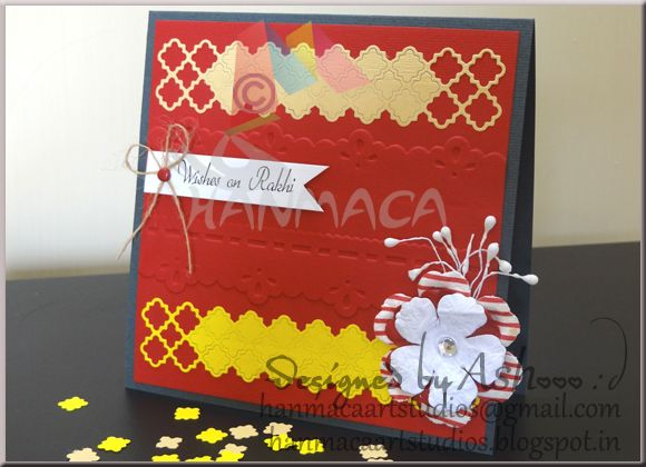 RAKHI CARD in a Jiffy!!!By HANMACA Art Studios