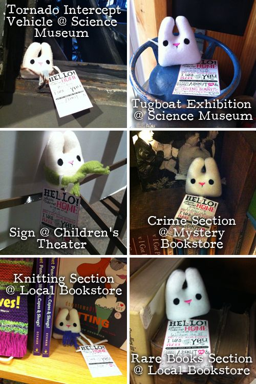 Art to give away!  Bunny Adventures from the Giving Bunny Project  I love this idea!!!!!