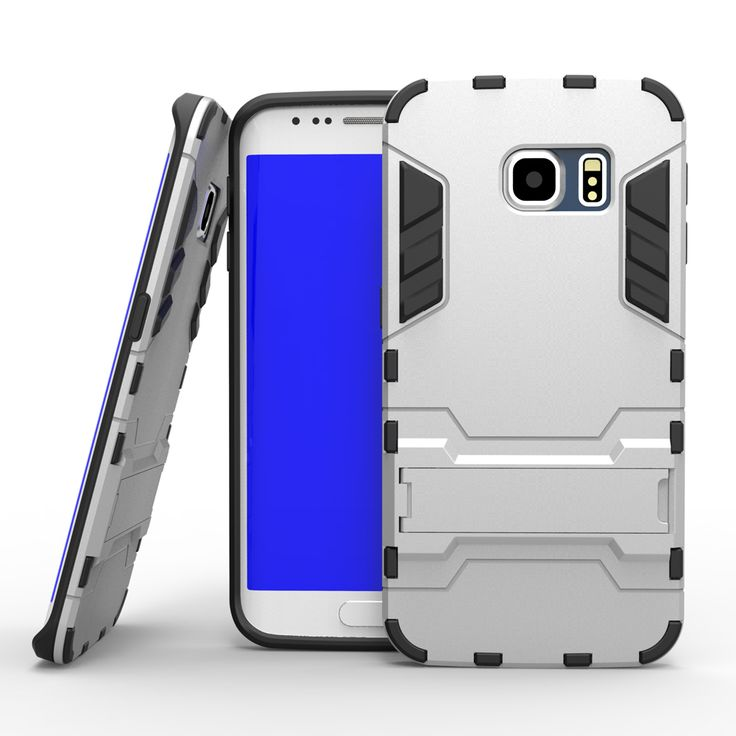 Capa Combo Cases For Samsung Galaxy S6 / S6 edge PC Shockproof Gel Silicon With Stand Holder Hard Back Cover For G9200 / G9250