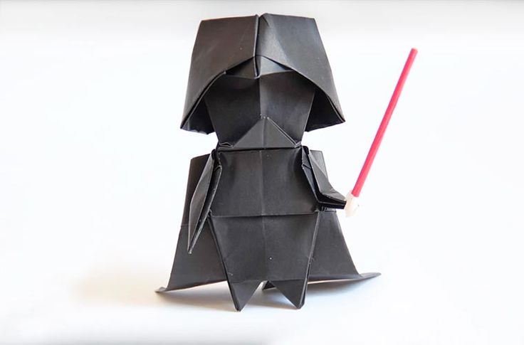 A short tutorial that will teach you how to createan origami Darth Vader! This is the Japanese artist Tadashi Mori, a specialist of origami, whowill reveal