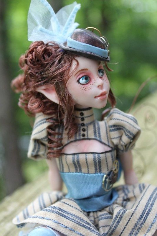 Victoria Steampunk Myxie Sculpture by MysticReflections on Etsy, $200.00