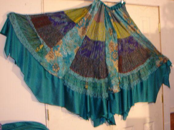 patchwork skirt hippie skirt boho skirt bohemian skirt gypsy skirt festival skirt tribal skirt boho patchwork skirt spin skirt