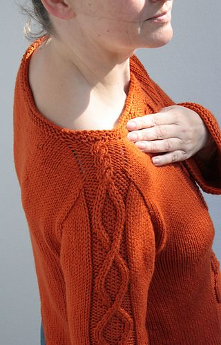 Contiguous arms,  pattern for purchase, knit top down