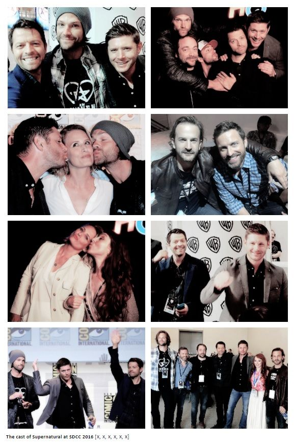 The cast of Supernatural at SDCC 2016 photo credits to the owners #Jensen…