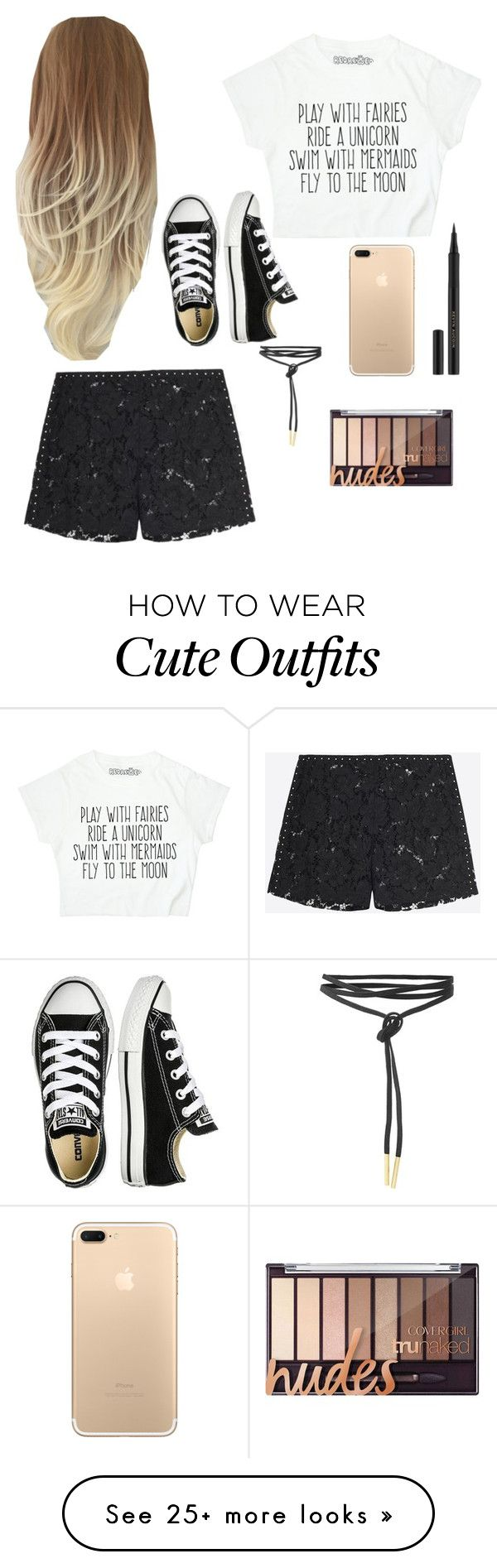 """#cute #outfit #like #likethis #nike #magical"" by elofmel-2 on Polyvore featuring Valentino, Kevyn Aucoin and Converse"