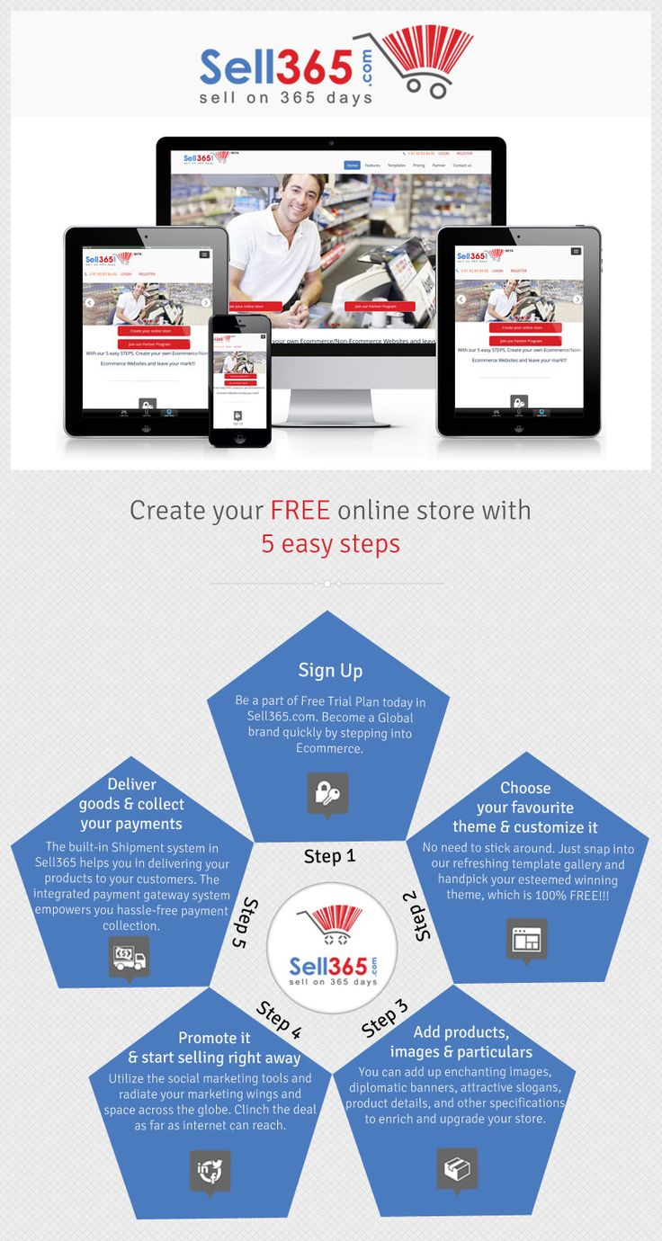 With our 5 easy STEPS, Create your FREE Online Store and leave your mark. Sell your products using our Online Store Builder.
