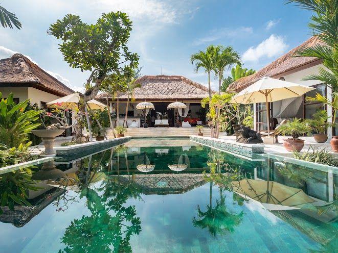 Villa Tibu Indah | 3 bedrooms | Canggu, Bali #villa #exterior #swimmingpool #bali #holidayvilla