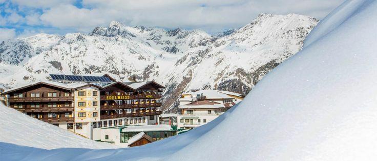 Das Vier-Sterne Hotel direkt an der Skipiste Hochsölden