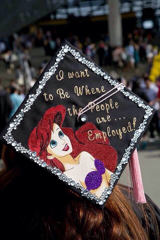 Little mermaid graduation cap ideas pinterest