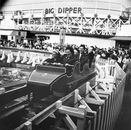 Big Dipper, Battersea Funfair, London, 1966.