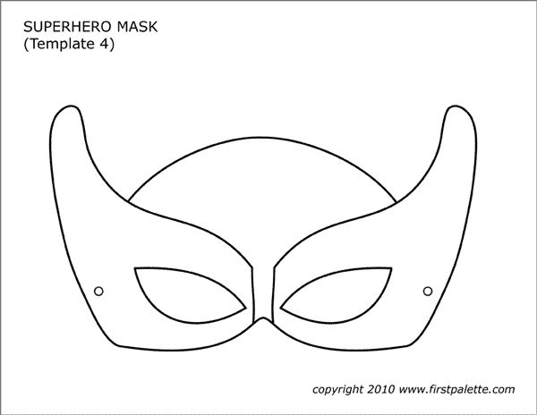 Superhero Mask Templates | Free Printable Templates ...