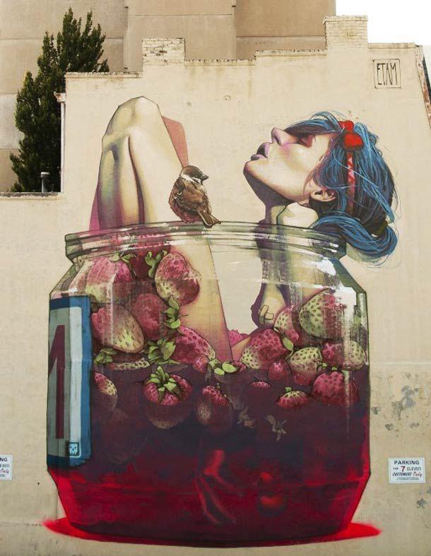 """Je vous avais déjà parlé du """"ETAM CRU"""" (ETAM CRU – Le Street Art géant vu par SAINER et BEZT), ce duo d'artistes polonais aussi à l'aise sur toile que da"""
