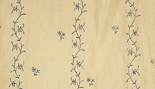 Cotton with silver (?) embroidery, French, ca. 1810. The Met, accession nr. 11.60.227a–d