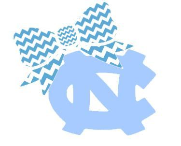 """North Carolina with Bow Decal for Laptop, Tablet, Notebook, Car - Choose 3"""", 4"""", 5"""" or 6"""" - Choose """"NC"""" Color & Bow Color"""
