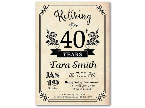 Best Retirement Party Invitation Images On