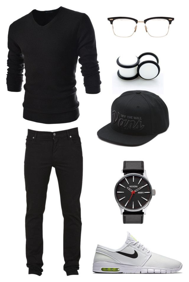 """Untitled #237"" by ohhhifyouonlyknew on Polyvore featuring NIKE, Cheap Monday, TheLees, Vans and Thom Browne"