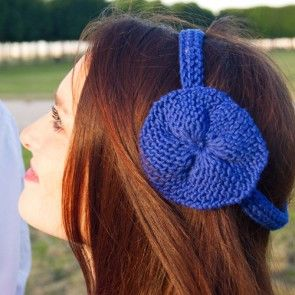 Kit tricot by WoolKiss : Headband rosace en coton