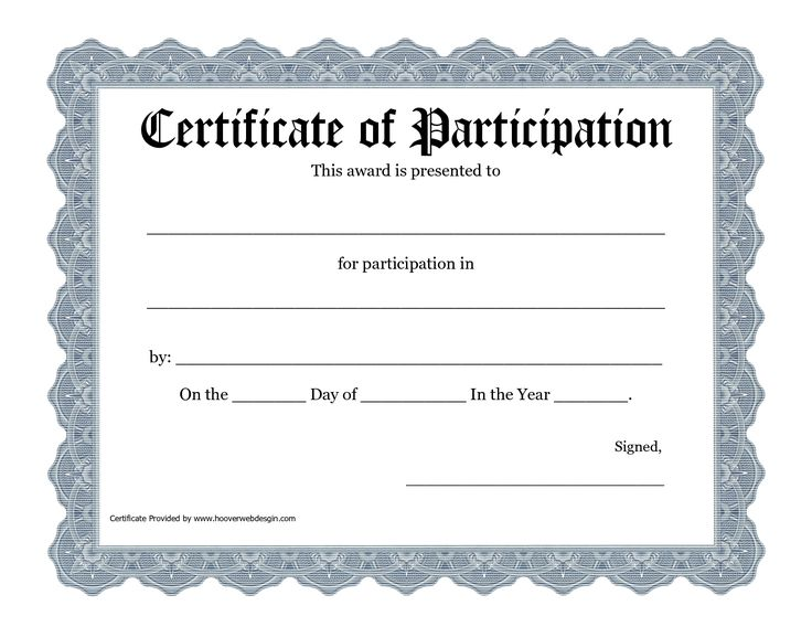 Best 25+ Certificate of participation template ideas on Pinterest - certificate template blank
