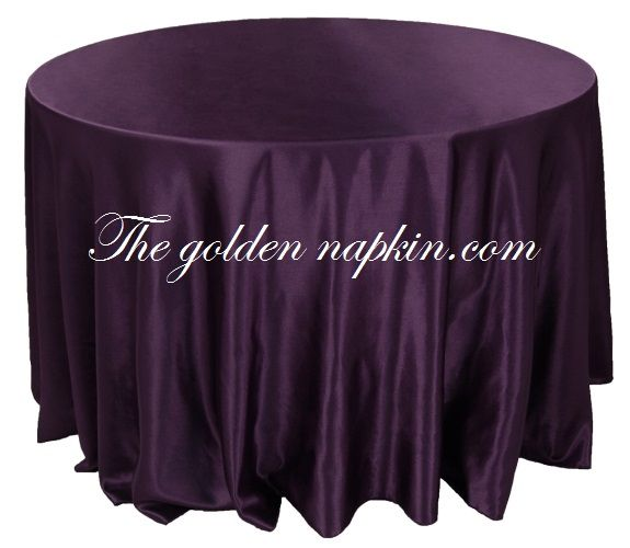 Crepe Satin Table Cloths at wholesale price