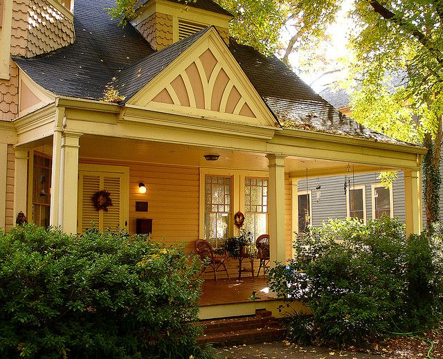 So inviting--gorgeous front porch!