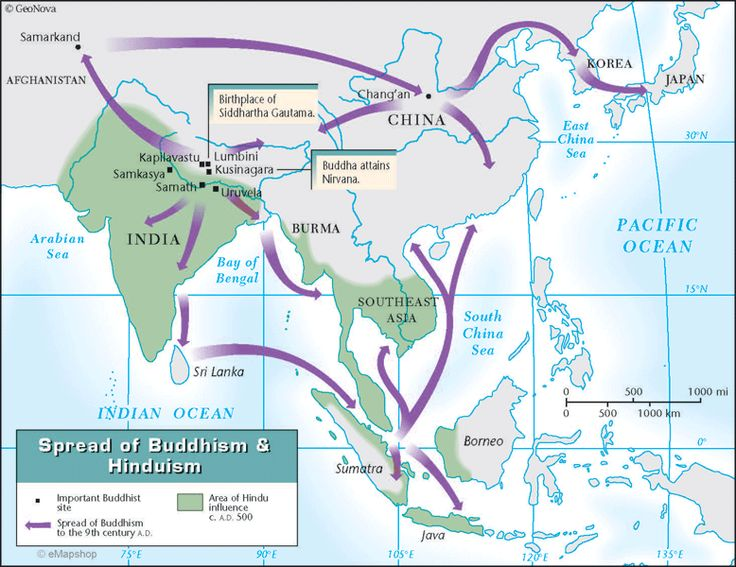 Buddhism History Maps Pinterest Buddhism And History - Religious diffusion maps us