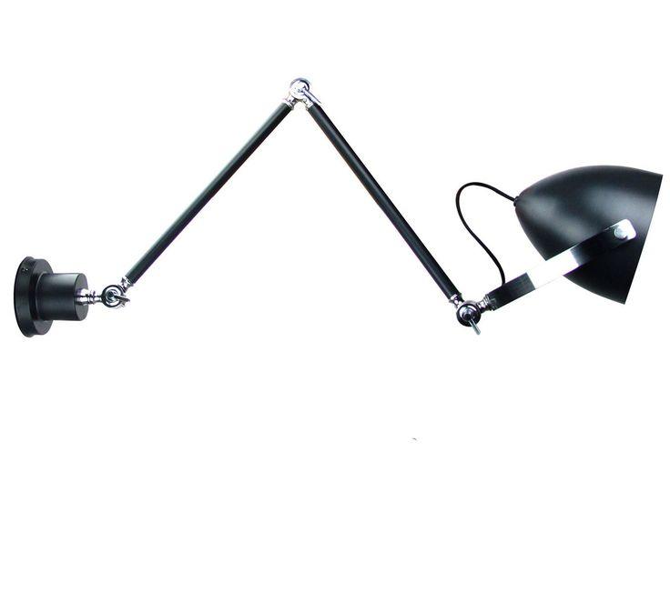 Kinkiet LAMPA ścienna SUBBY 895113 BLACK Italux czarny