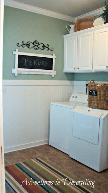 High waynes coating - chalk board in the Laundry room