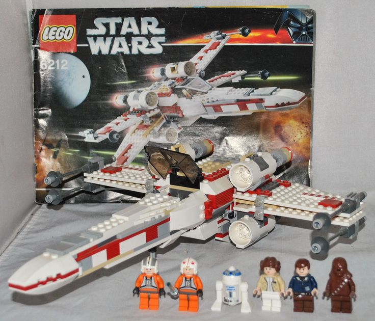 LEGO STAR WARS - X-Wing Fighter #6212 with 6 Mini Figures, 100% Complete, RARE!!!