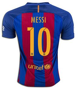 Barcelona 2016/17 Home Men Soccer Jersey MESSI #10 Item Specifics - Brand: NIKE - Gender: Men - Model Year: 2016-2017 - Material: Polyester - Type of Brand Logo: Embroidered - Type of Team Badge: Embr