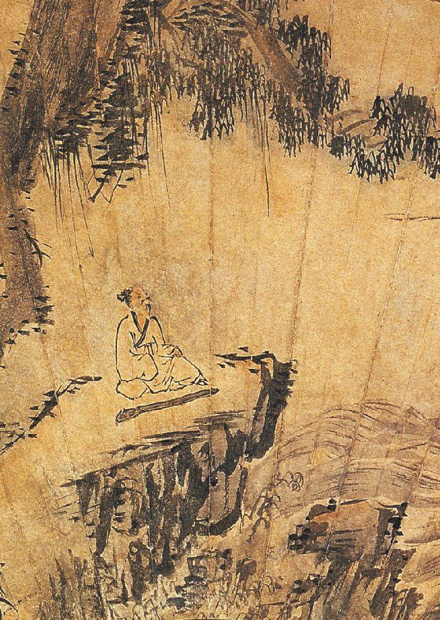 (Korea) by Jeong Seon (1676-1759). colors on paper.