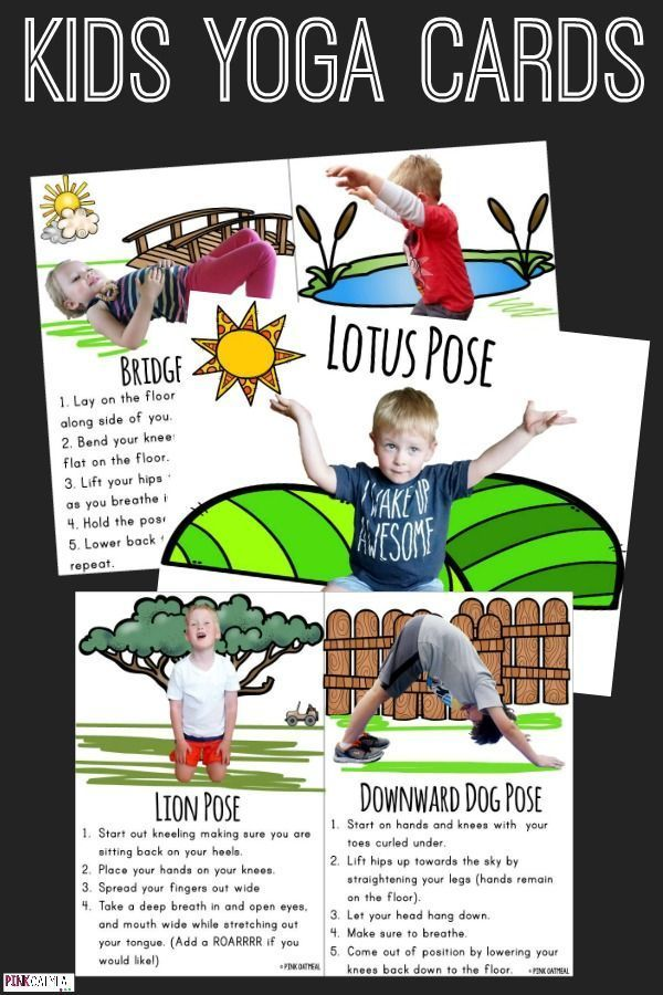 These yoga cards are the BEST for kids yoga!  I love that they are pictures of real kids in the yoga poses!