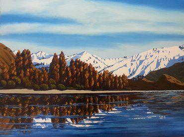 Autumn in Wanaka Acrylic by Jane Guise