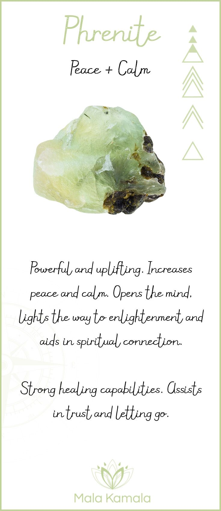 This is a new crystal that I have never heard of and it is used for calming in a stressful situation.