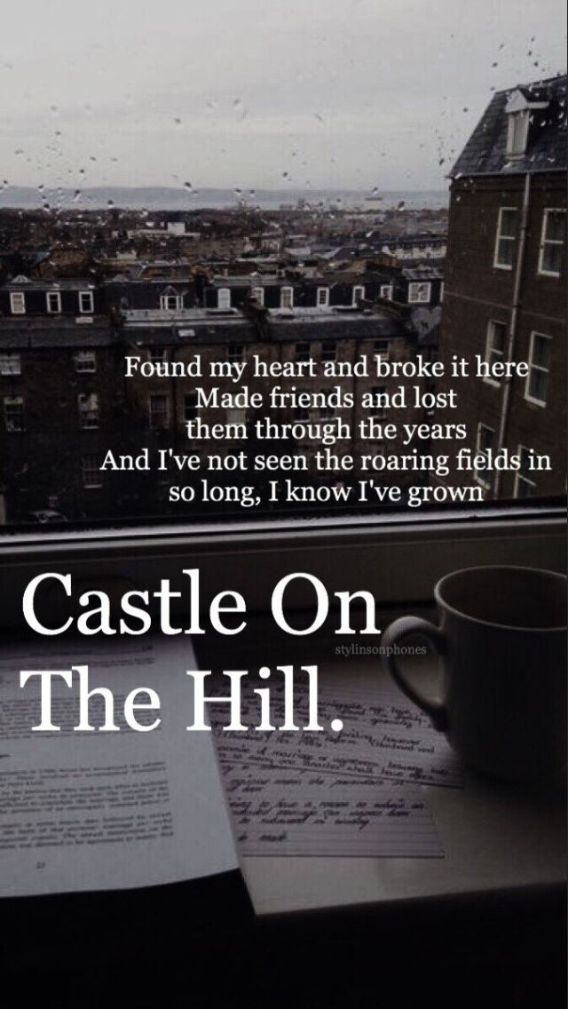 """Castle On The Hill""_ Ed Sheeran"