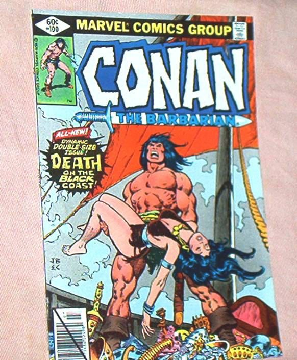 CONAN The BARBARIAN Comic, #100, 52 page Anniversary Issue, Death of Belit, Thomas, John Buscema and Ernie Chan 1979, Fine/ Fine+ by brotoys1 on Etsy