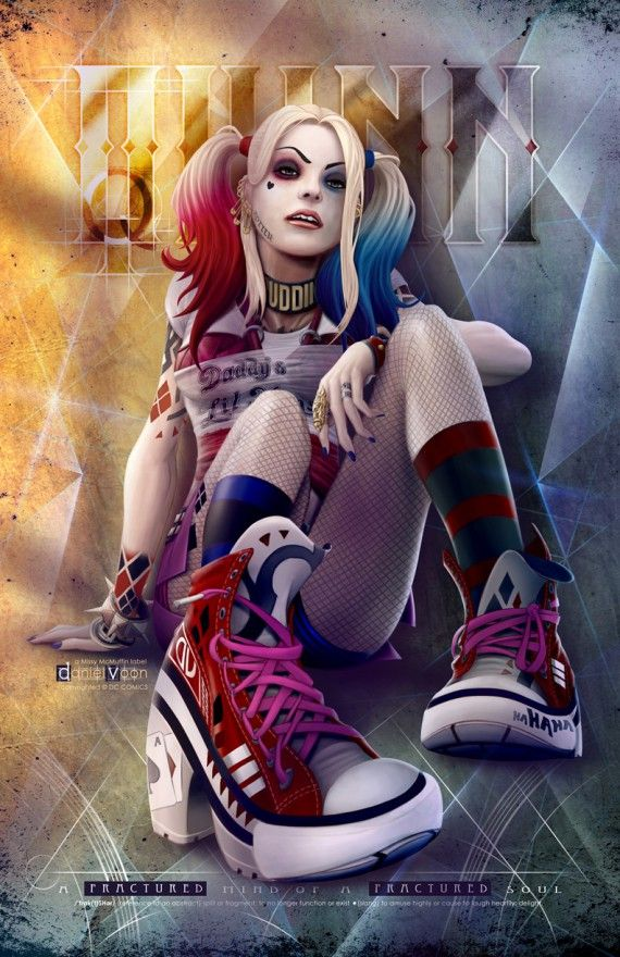Les plus beaux fan arts d'Harley Quinn version Suicide Squad - dvoon missy  mcmuffin