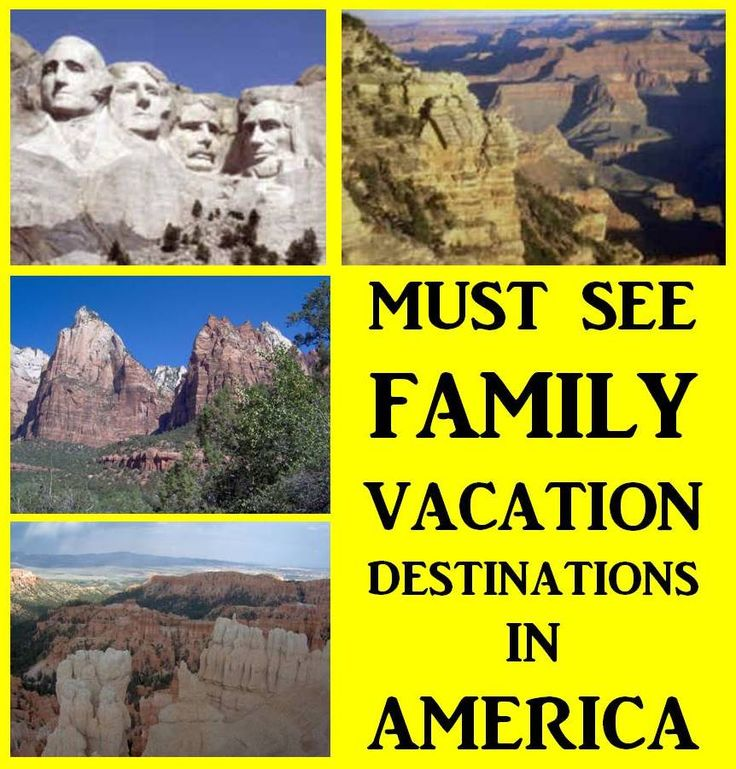 """Must See Family Vacation Destinations in America - Here is our list of 15 places that we feel are a """"must see"""" for every family. Be prepared to be """"awed""""."""