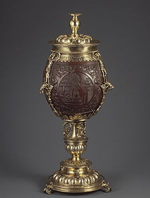 Hans van Amsterdam: Coconut Cup with Cover (17.190.622ab) | Heilbrunn Timeline of Art History | The Metropolitan Museum of Art