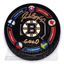 Patrice Bergeron Boston Bruins Signed Autographed 2014 Olympic Canada Puck LE